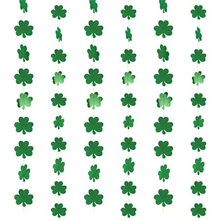 Irish Triangle Bunting Flag Accessoires Royaume-Uni environ 7.32 m St Patrick enfants Tricolor 24 FT