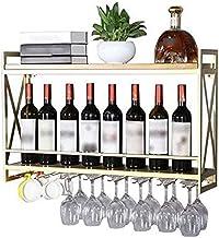 Moderne Metalen Wijnrek Opslag Wijnhouder Wijnfles Houder-Wandmontage Wijnrek, Wijnglasrek, Woondecoratie Opbergrek-80 * 2...