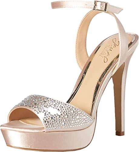 Jewel Jewel Badgley Mischka Wohommes Milena Heeled Sandal, Champagne, 5.5 M US  choisissez votre préférée