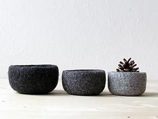 felted nesting bowls