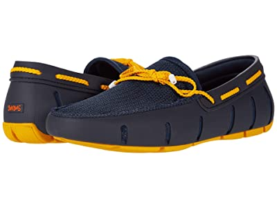 SWIMS Braided Lace Loafer (Navy/Gold Fusion) Men