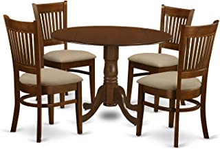 DLVA5-ESP-C 5 Pc set Dinette Table with 2 drop leaves and 4 Seat Chairs