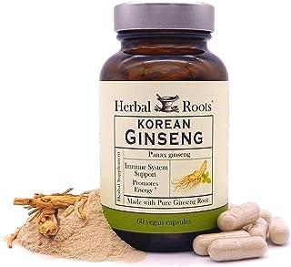 Herbal Roots Panax Ginseng - Organic Korean Ginseng Root Powder - 1000mg - High Ginsenosides for Energy, Focus & Performan...