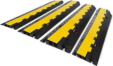 10x 1 Kanal Kabelbrücke Gelb PVC Überfahrrampe Kabelkanal Kabelschutz Kabelrampe