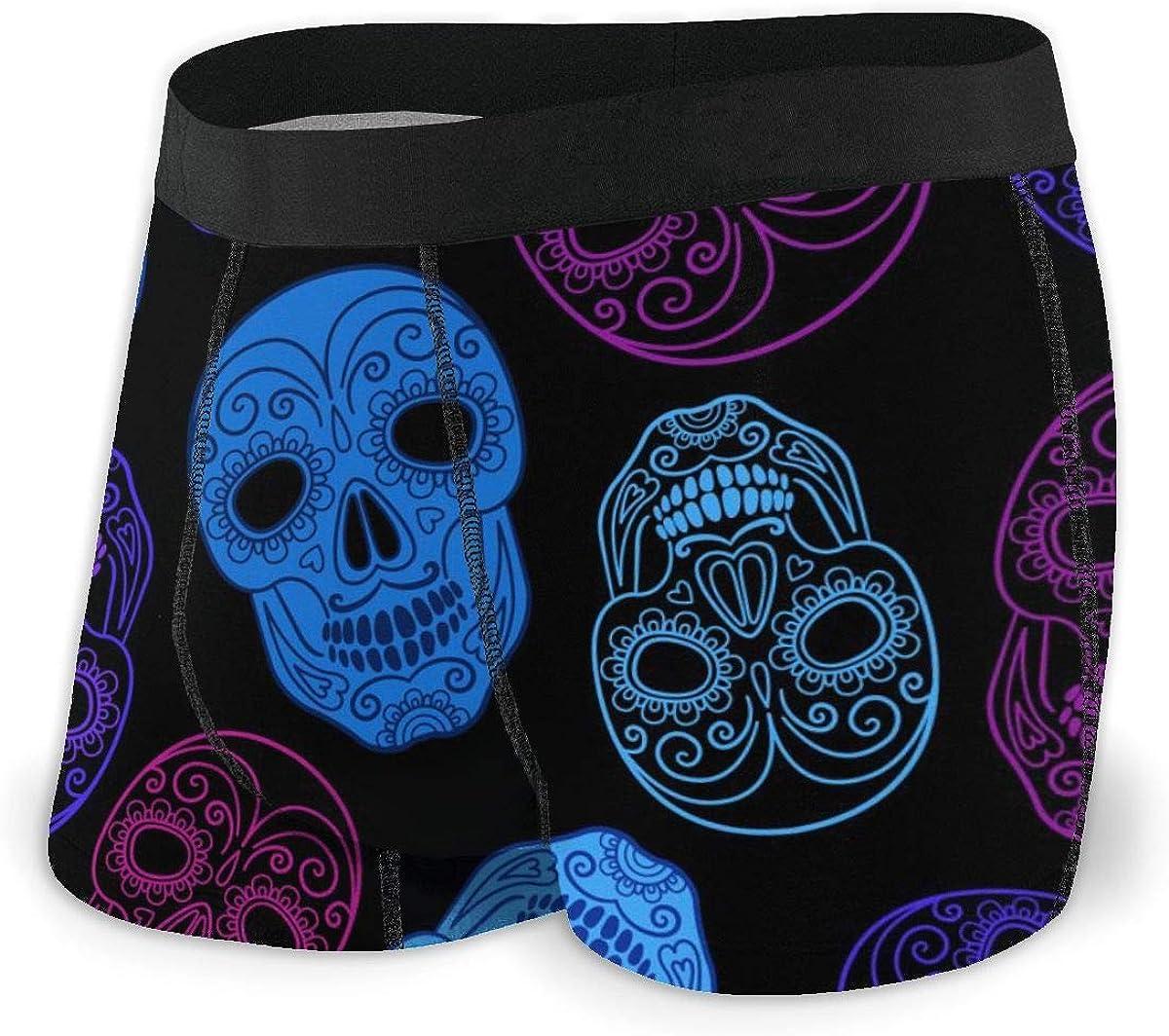 Randolph Wordsworth Mens Boxer Briefs Marvellous Paisley Skulls Boys Trunks Underwear Short Leg Breathable Man