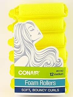 Conair Medium Foam Hair Rollers - 12 Pcs.