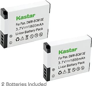 Kastar Battery (2-Pack) for Panasonic DMW-BCM13 DMW-BCM13PP & Lumix DMC-FT5 Lumix DMC-LZ40 DMC-TS5 Lumix DMC-TZ37 DMC-TZ40 DMC-TZ41 Lumix DMC-TZ55 DMC-TZ60 Lumix DMC-ZS27 DMC-ZS30 DMC-ZS35 DMC-ZS40