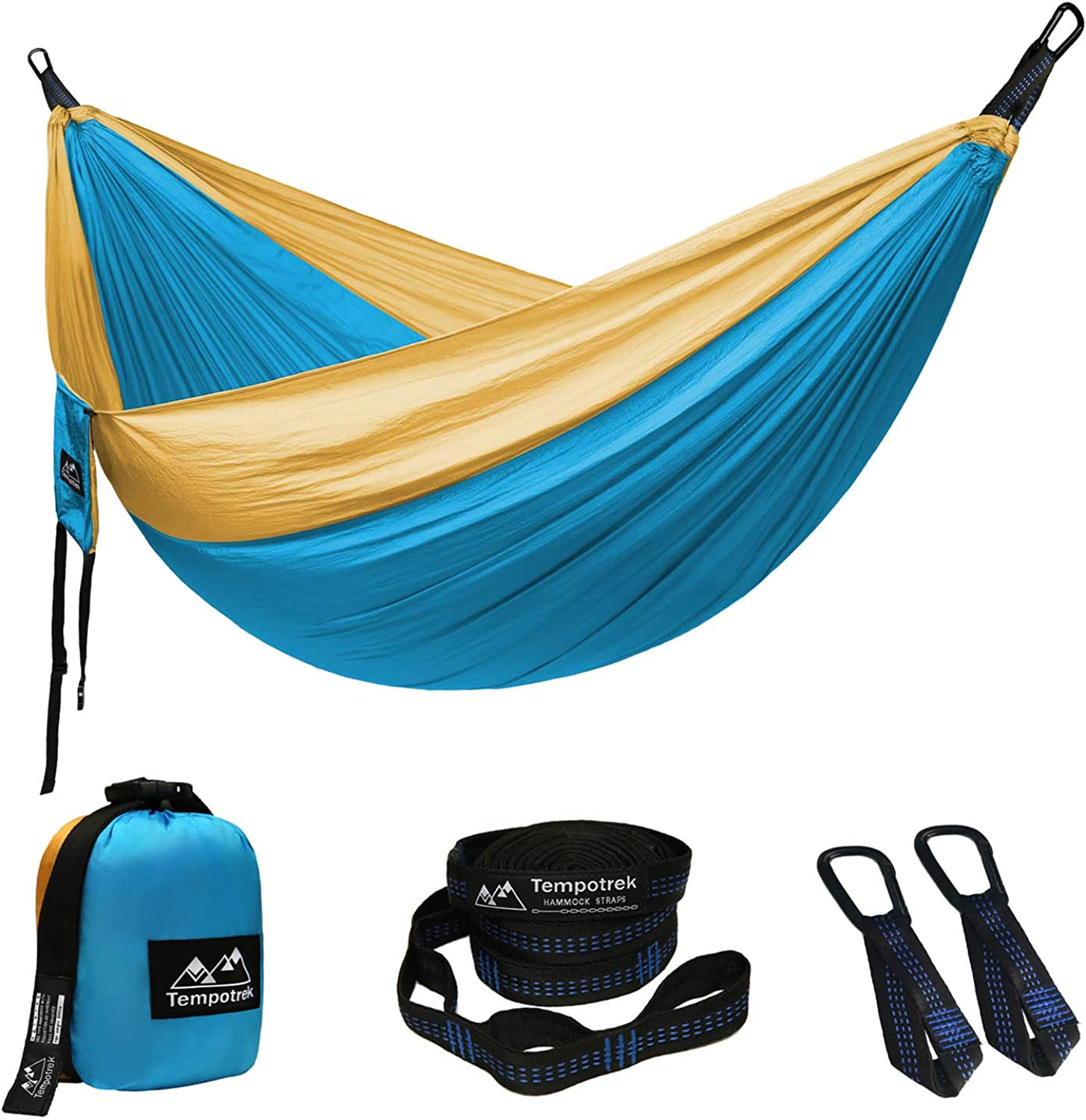 Tempotrek Camping Double Hammock Best Parachute Hammock  800LB High Capacity, Lightweight Nylon Portable Hammock for Backpacking, Travel, Beach, Yard. 118 (L) x 78 (W)