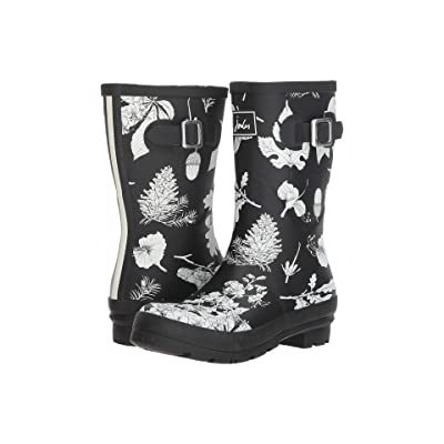 Joules Mid Molly Welly (Black Etched Botanical) Women