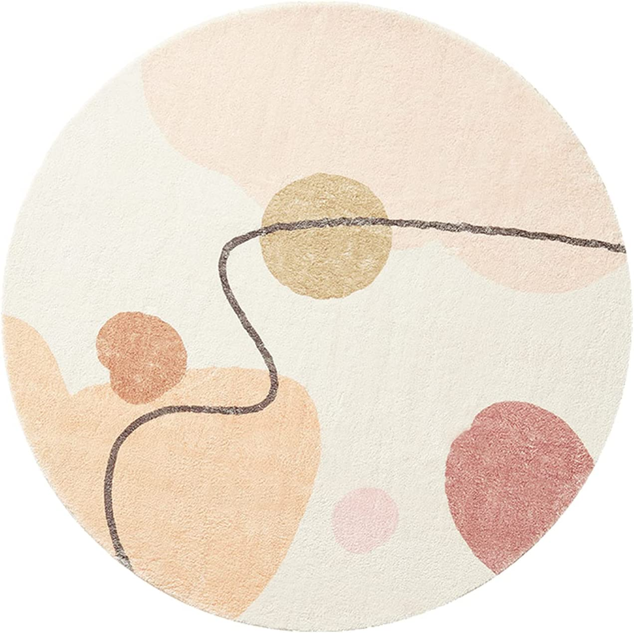 Popular product HEPAI ! Super beauty product restock quality top! Scandinavian Round Carpet Modern Bedroom Fashion Li