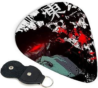 ギターピック Tokyo Ghoul ギター アクセサリー 6枚セット 製エレキギター ベース用ピック 練習 プレゼント ィックギター 初心者 滑り止め加工 Guitar Pick ギター用 収納ケース付き