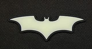 BritKitUSA The Dark Knight Batman 3D PVC Glow in The Dark GITD SWAT Rubber Patch Hook Backing