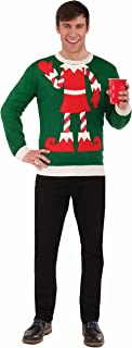 Forum Women's Plus-Size Extra Large Elf Ugly Christmas Sweater