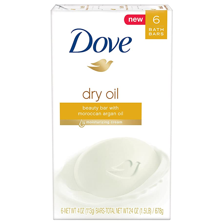 ねじれ枕穀物Dove ビューティーバー、ドライオイル、4オンス、6バー