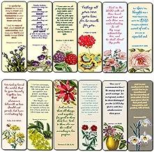 Christian Flower Bookmarks for Women Girls Tweens KJV Scriptures Series 1 (30 Pack) - Bible Verse John 3:16 Jeremiah 29:11 Joshua 1:9 Encouragement Gifts Stocking Stuffers Church Supplies VBS