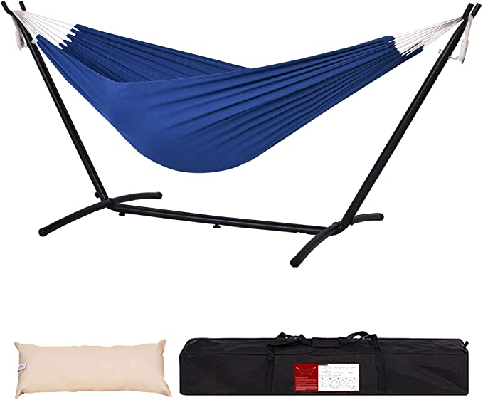 Lazy Daze Hammocks Double Cotton - Runner Up Double Hammock with a Stand