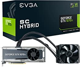 EVGA GeForce GTX 1070 Ti SC HYBRID GAMING, 8GB GDDR5, LED, All-In-One Watercooling with 10CM FAN, DX12 OSD Support (PXOC) ...