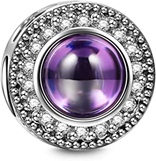 Wishing Charms Christmas Charms Gifts 925 Sterling Silver Hollow Design Purple Bead Charms