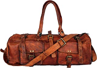 Duffel Bag 22'' Travel Backpack Genuine Leather Vintage Handmade Bag (Style 1)