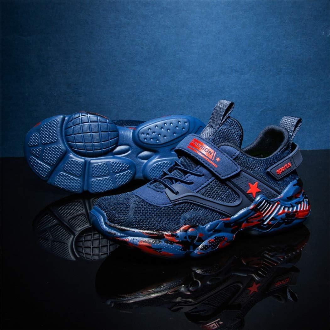 Zapatillas Unisex Ni/ños de Deporte Velcro Ligero Transpirables Trainers para Exterior Interior