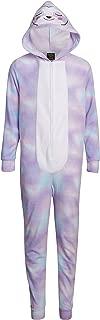 Sweet & Sassy Girls Lightweight Fleece Onesie Pajama with Critter Hood