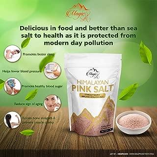 Magic Salt ® Himalayan Sal fina o gruesa de color rosa Pura sal de grado alimenticio (FINE, 1KG BAG)