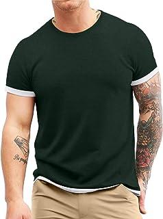Men's S-5XL Short Sleeve Athletic T-Shirt Classic Top...
