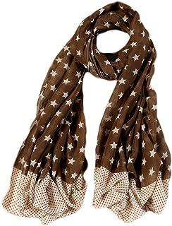 Ayli Women's Star Pattern Scarf Long Shawl Lightweight Fashion Wrap Various Colors