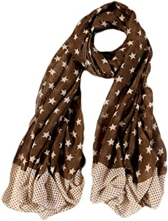 Ayli Women's Star Pattern Scarf Long Shawl Lightweight Fashion Wrap Various Colors