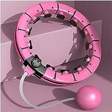 YPLDM Slimme gewogen Hula-ring met fitnessmassage, Hula-hoepel past taillemaat aan, buiktraining gewichtsverlies, auto-dra...