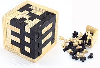 Cisixin Cubo 3D Rompecabezas de Madera Juego Puzzle, Perfecto Puzzle para el Regalo de los Cabritos