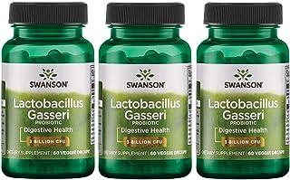 Swanson Lactobacillus Gasseri 3 Billion CFU Digestive Health Fat Metabolism Satiety Probiotic Supplement 60 Veggie Capsule...