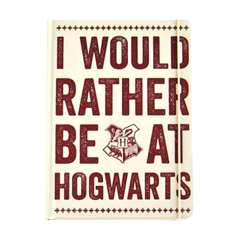 Harry Potter Notebook Rather Be At Hogwarts Slogan 公式 A5 Lined Hardback