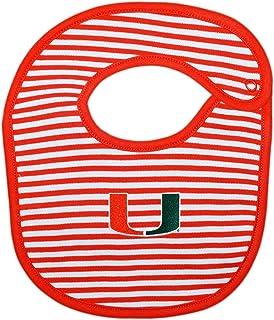 University of Miami Hurricanes Striped Baby Bib