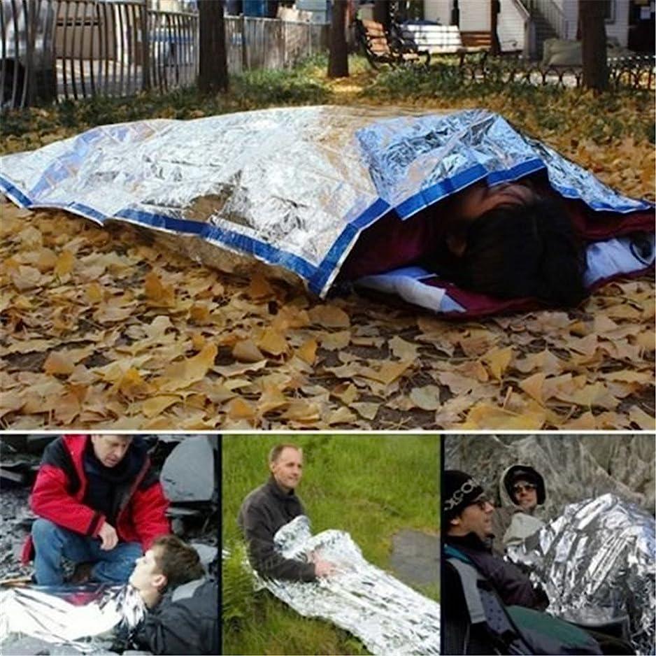 名詞雪だるまを作る繊維サバイバルシート 防寒 保温シート 防水 遮熱 アウトドア サバイバル ツール グッズ 緊急時 寝袋 コンパクト 軽量2枚パック