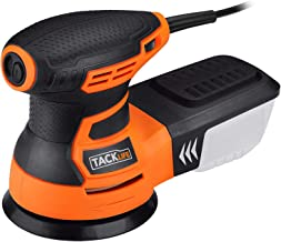 TACKLIFE 5-Inch Random Orbit Sander 3.0A with 12Pcs Sandpapers, 6 Variable Speed 13000RPM Electric Sander, High Performanc...