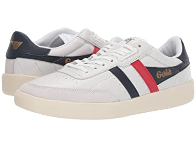 Gola Inca Leather (White/Navy/Red) Men