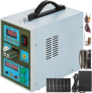 Moracle Máquina de Soldadura por Puntos LED Portátil Soldador de Mano Batería Caja Fuerte Portátil Acero