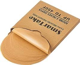 SMARTAKE 200 Pcs Unbleached Parchment Paper Baking Sheets Round, 8 Inches Non-Stick Precut Baking Parchment, Perfect for B...