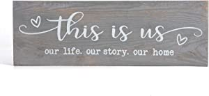 CHICVITA This is Us Wall Decor, Wood Plaque Quotes Wall Art Country Decor for The Home Grey Wall Decor for Living Room Bedroom Entryway Kitchen