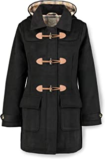 Hope & Henry Women's Toggle Duffle Coat with Hood