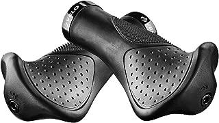 Vinqliq Ergonomic Anatomic Handlebar Grip Triple Density Bar-end Extensions Soft Anti Slip Absorb Shock CNC G2 Lock Comfort for Bicycle MTB XC FR BMX Cyling