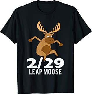Leap Year Shirt February 29th 2020 Leaping Moose Leap Day T-Shirt