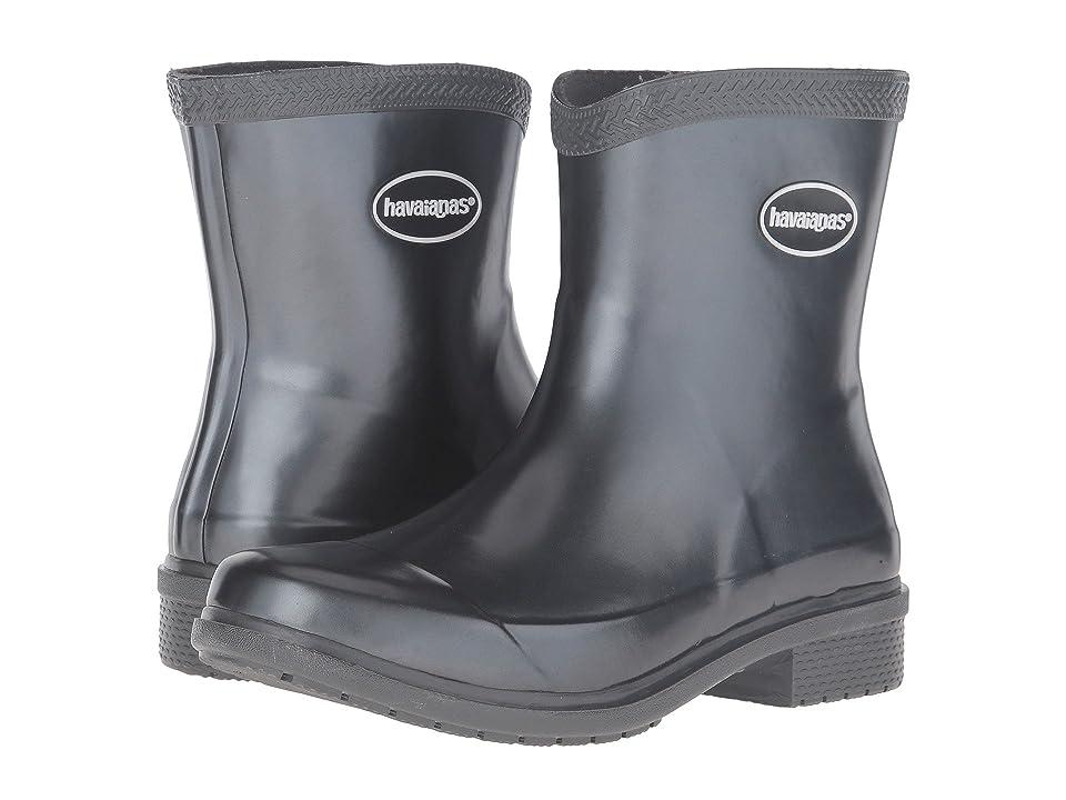 Havaianas Galochas Low Metallic Rain Boot (Dark Grey Metallic) Women