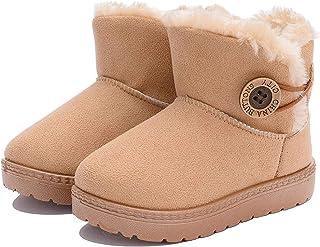 KVbabby Inverno Stivali da Neve Bambini Scarpe Stivaletti Morbide Pelliccia Fodera Calda Stivali Scarpe di Cotone Piatto B...