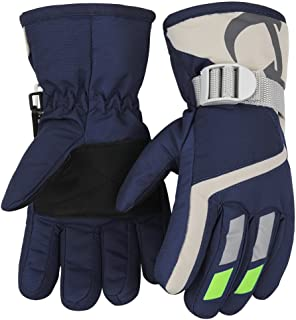 7-Mi Kids Winter Warm Gloves for Skiing/Cycling Children Mittens for 3 to 5 Years Old