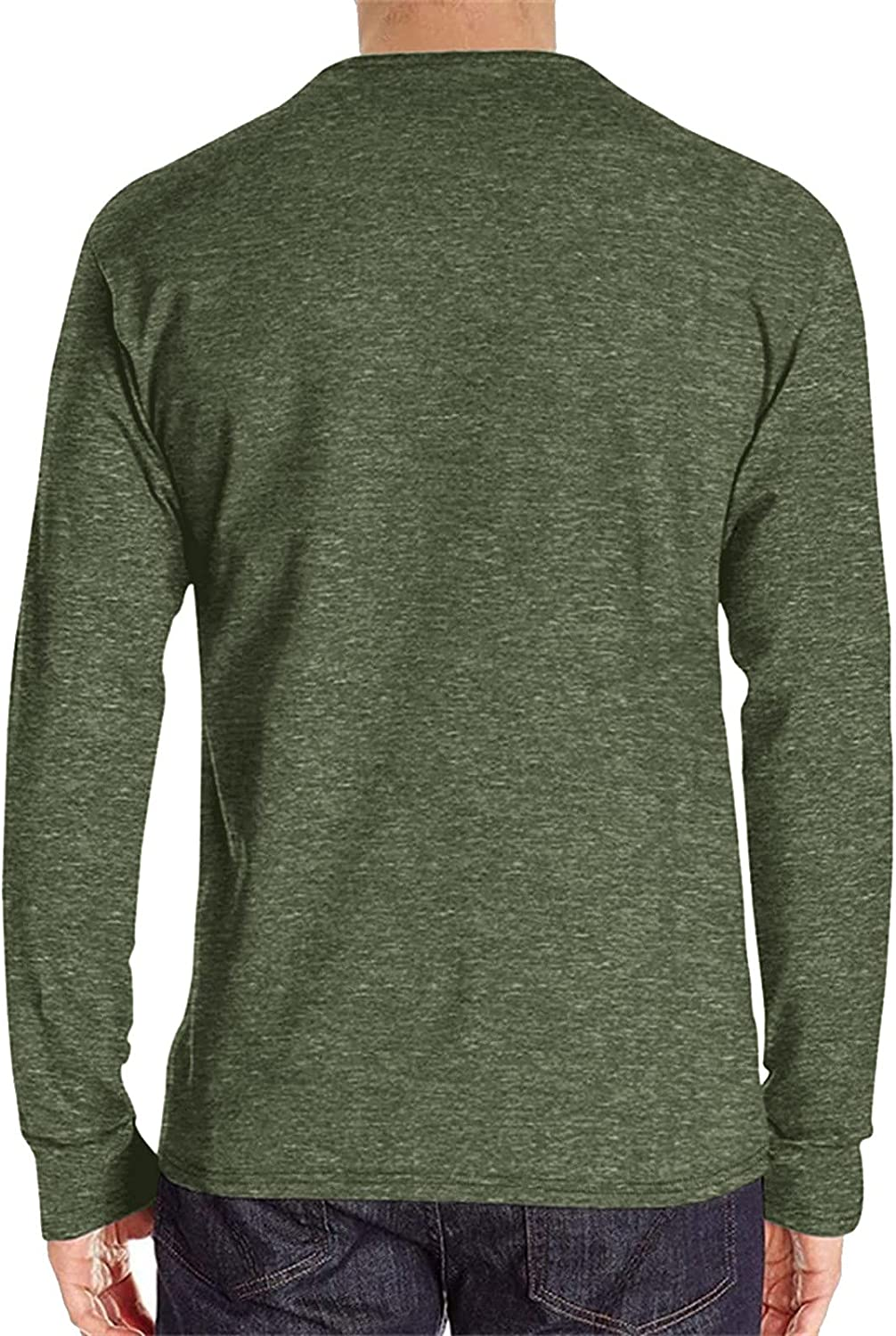 Tops for Men Multi-Button Solid Color excellence depot Sport Fashion Long-Sleeved