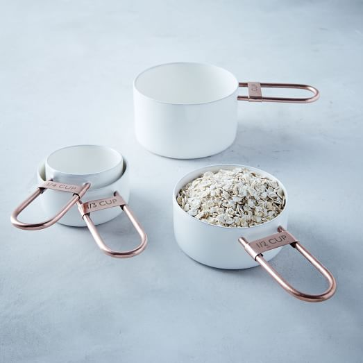 Copper + Enamel Measuring Cups | west elm