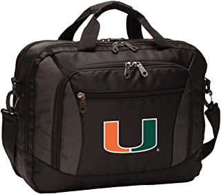 Broad Bay University of Miami Laptop Bag Best NCAA Miami Canes Computer Bags