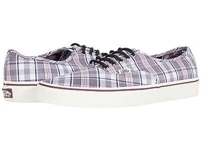 Vans Authentic ((Tartan) Pink/Marshmallow) Skate Shoes